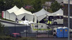 A Covid-19 testing centre in Bolton, England. (Photo / AP)