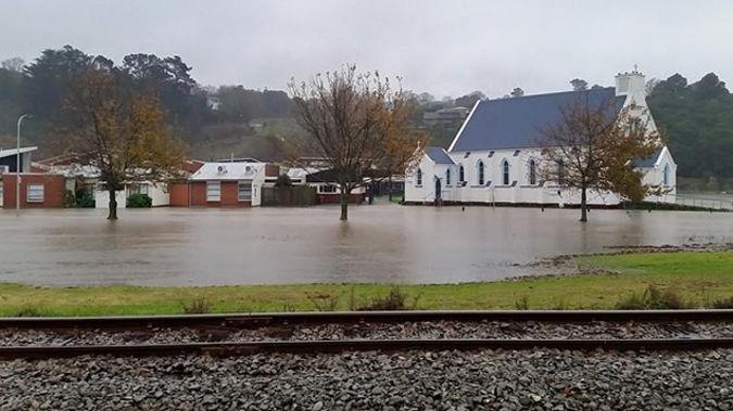 Flooding around Whanganui (via Facebook)