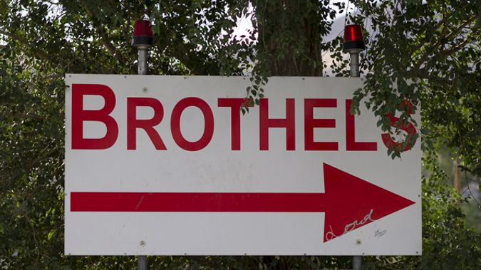 A brothel sign in Nevada - which wouldn't fit the criteria set out in the bylaw. (Getty Images)