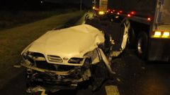 Damage from the crash at the Hawke's Bay black-spot (NZ Police)