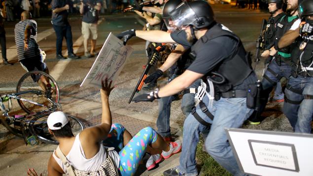 WATCH: Peaceful Ferguson protest turns violent