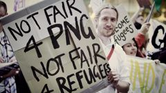 A 2013 protest over treatment of asylum seekers on Nauru (Getty Images)
