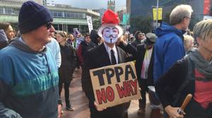 PHOTOS: March against TPPA in Auckland