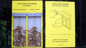 PHOTOS: Creative solutions to London's littered streets