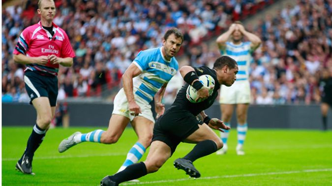Aaron Smith scoring the crucial try. (Getty Images)