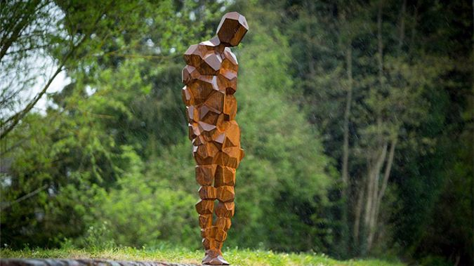 One of the two Antony Gormley sculptures (Supplied)