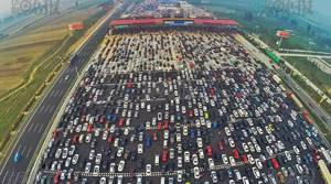 PHOTOS: Bird's-eye views of extreme Chinese traffic jam