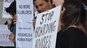 PHOTOS: Housing protestors picket property conference