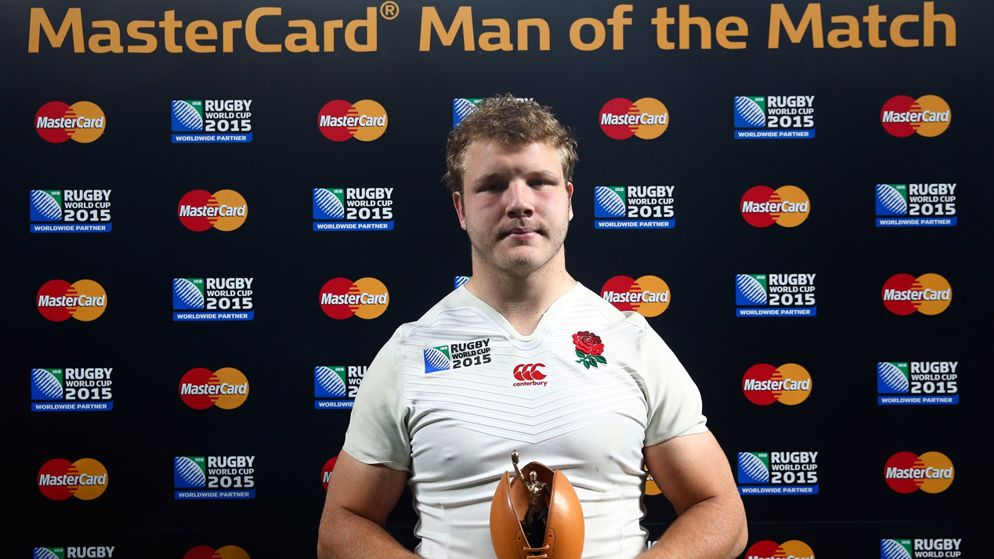 Man of the Match blunders: Joe Launchbury was left red faced after winning this award against Australia, despite his team being outclassed and crashing out of the World Cup.
