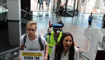 PHOTOS: Protestors enter Australian Consulate