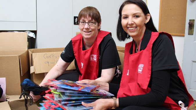Volunteers at the Auckland City mission (Supplied)