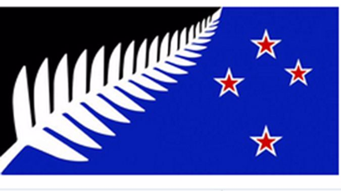 The winning design from the first flag referendum.