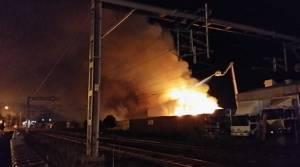PHOTOS: Fire at Auckland Film Studios