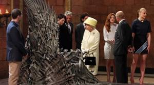 PHOTOS: Queen visits Game of Thrones set