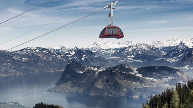 The Dragon Ride cableway to Pilatus (Supplied)