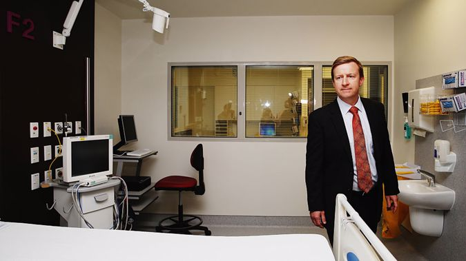 Health Minister Jonathan Coleman at Middlemore Hospital (Getty Images)