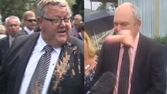 Steven Joyce was hit with a dildo, then Gerry Brownlee had muck dumped on him, as protest tactics changed to attack personalities rather than policies. (NZME)