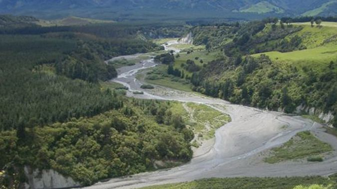 The proposed site of the Ruataniwha Dam. (Supplied)