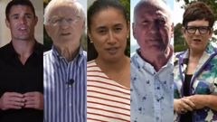 A selection of the public figures who appeared in a campaign video advocating change (Supplied)