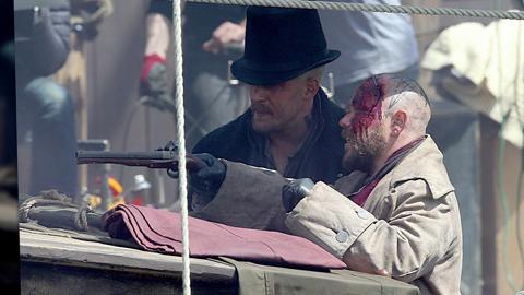 Tom Hardy Films 'Taboo' in Cornwall, England