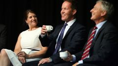 Victoria Crone, Mark Thomas and Phil Goff are welcoming the $1 billion government infrastructure loan (Getty Images).