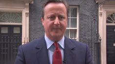 WATCH: David Cameron sings to himself after announcing replacement