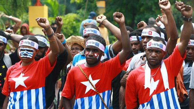 West Papuan students demonstrating for an independent state outside of Indonesian control in December 2013 (Getty Images)