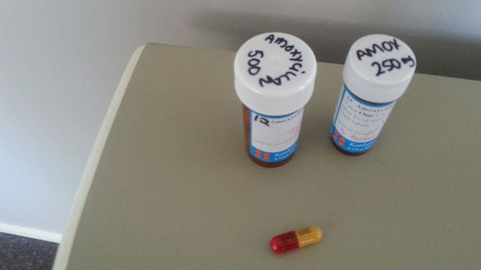 The antibiotics prescribed to the Katikati College student (Supplied).