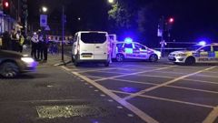 The scene after a stabbing in London (Twitter)