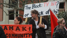 PHOTOS: Housing activists protest at The Block