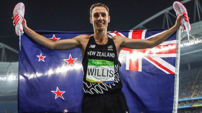 Nick Willis - pictured after winning bronze at the 2016 Olympics - will need to post seven negative Covid-19 tests before mingling with his New Zealand team mates. Photo / INPHO/James Crombie