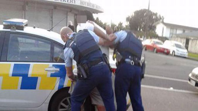 Police and one of those involved in the brawl on Monday (NZH).