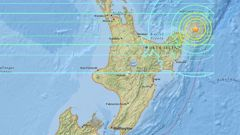 The magnitude 7.1 quake hit at 4.37am, around 100km northeast of the East Cape settlement of Te Araroa, at a depth of 55km. Photo / USGS
