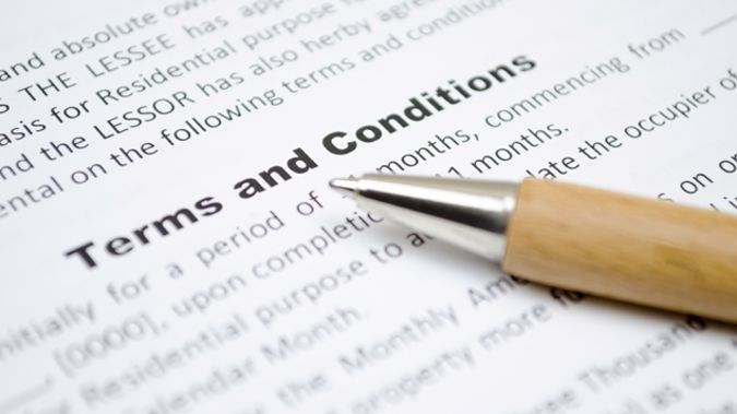 Beware when signing terms and conditions agreements (Getty Images).
