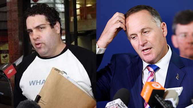 Right wing blogger Cameron Slater and PM John Key (Getty Images)