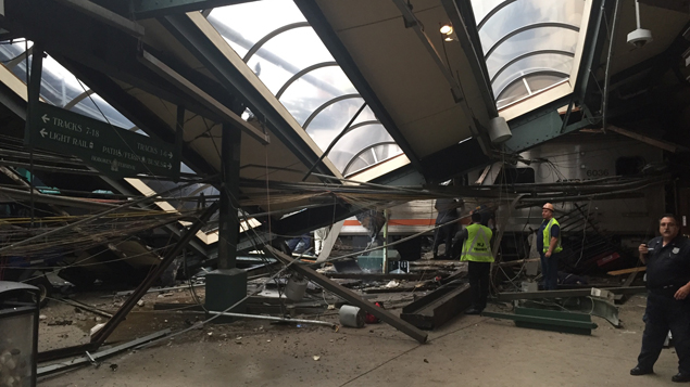 Over 100 injured, one killed after train ploughs into New Jersey transport station