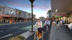 An artist impression of the proposed changes to Auckland's Karangahape Road (Supplied)