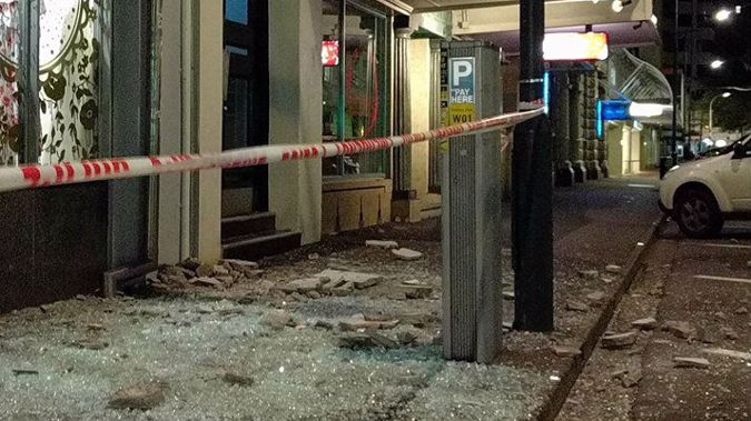 Damage caused by this morning's 7.5 earthquake at CentrePort in Wellington. Photo / Mark Mitchell