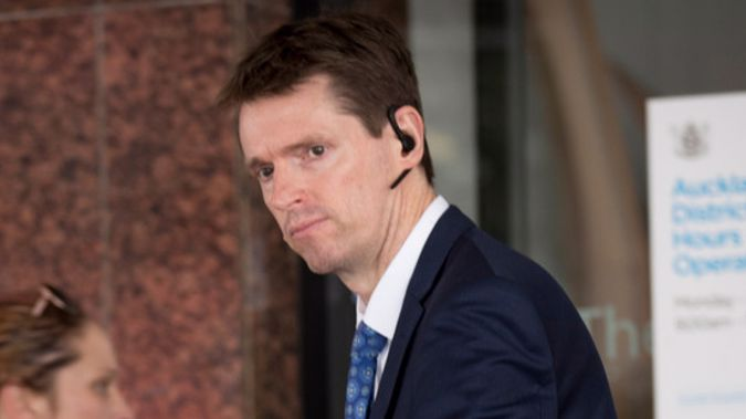 Colin Craig outside the Auckland District Court. Photo / Dean Purcell