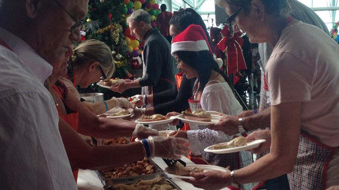 Christmas lunch at the Auckland City Mission. (Gia Garrick)