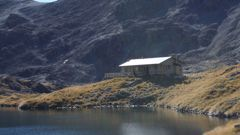 The Department of Conservation Angelus Hut in the Nelson Lakes. (NZ Herald)