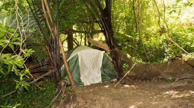 The camp near the Waikato River. (Supplied/NZ Police)