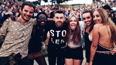 Crowds enjoy the Rhythm and Vines festival in Gisborne. (NZ Herald/18 Entertainment)