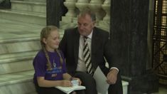 Young girl with Crohn's disease delivers petition to parliament