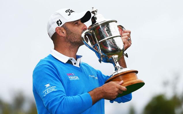 Michael Hendry after winning the NZ Golf Open. (Photo / Photosport)