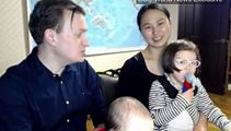 WATCH: Professor with roving kids returns to BBC