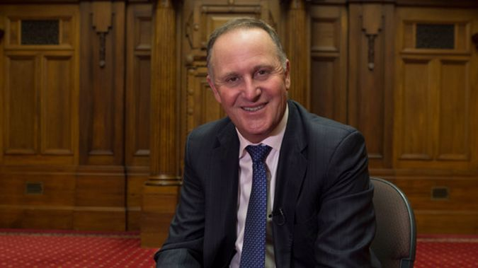 Former Prime Minister John Key spoke with Leighton Smith on his final day as an MP (Photo / NZH)