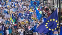 Thousands in London protest leaving EU