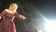 Concert-goers get drenched at Adele's final concert