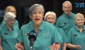 NZ Young@Heart Chorus perform in studio for Mark Dye